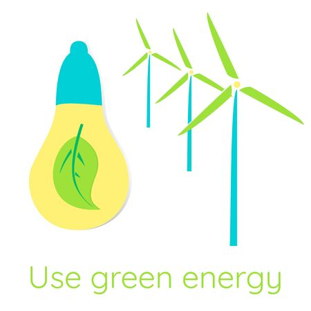 Ecological concept. Use green energy.