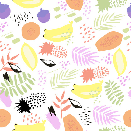 In hand drawn style. Tropical summer mood
