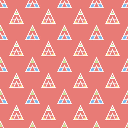 Abstract geometric vector seamless pattern with wigwams