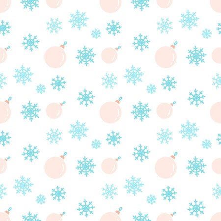 Delicate festive vector seamless pattern with balls.