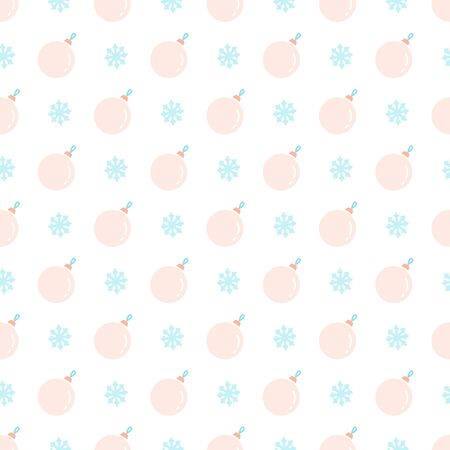Delicate Christmas seamless vector pattern with snowflakes