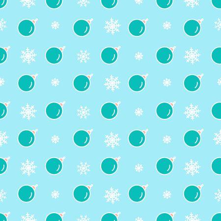 Cute Christmas balls seamless vector pattern. Illustration