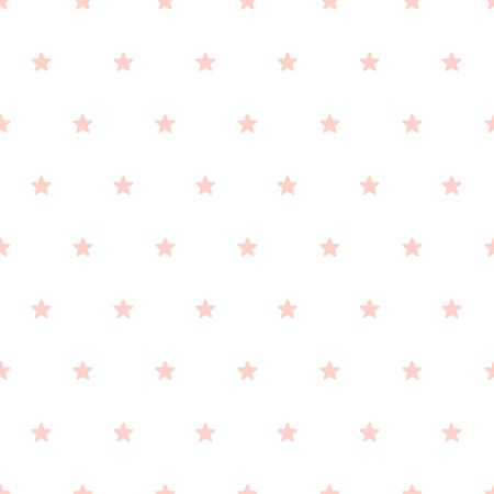 Pink stars on a white background. Perfect for baby design Stock Vector - 95193088