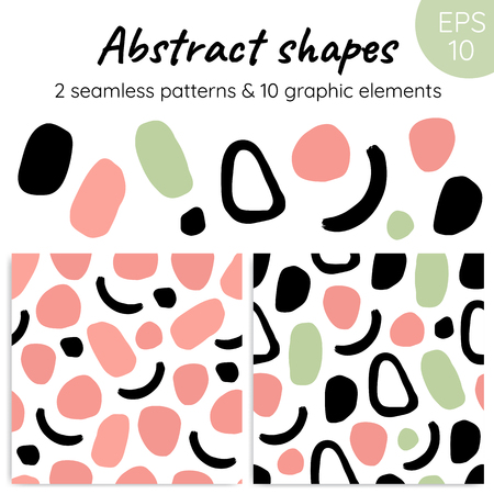 Abstract shapes for your design. Illustration