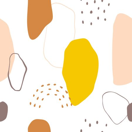 Bright, modern, abstract seamless vector pattern.