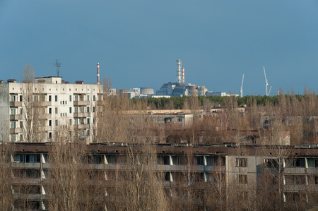 npp: city of Pripyat, near the fourth unit of the Chernobyl nuclear power station 1