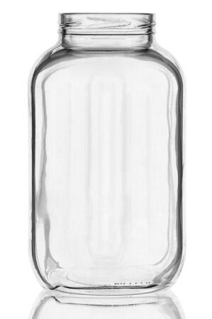 glazen pot isoleren op een witte achtergrond
