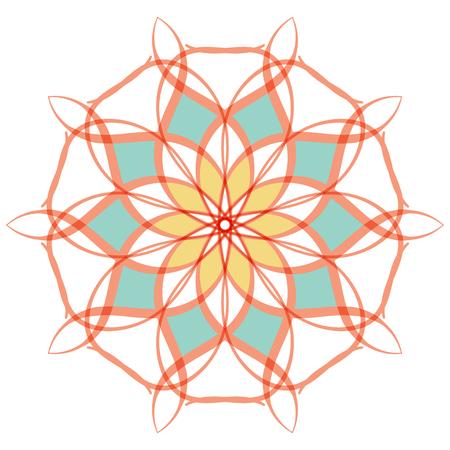 Arabic color mandala.