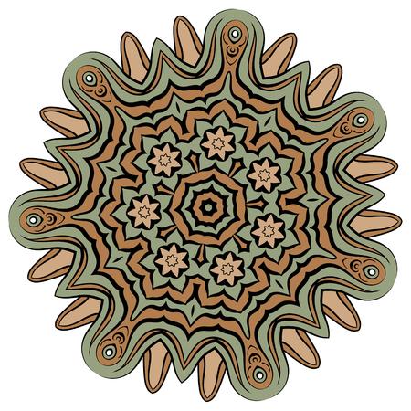 red rug: Arabic color mandala
