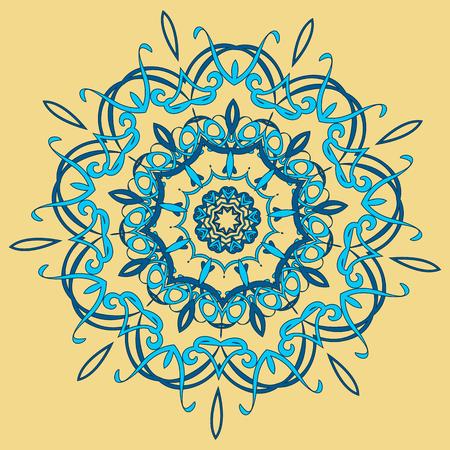 oriental rug: Arabic color mandala.