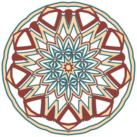 african business: Aribic Colorful Mandala. Ethnic tribal ornaments