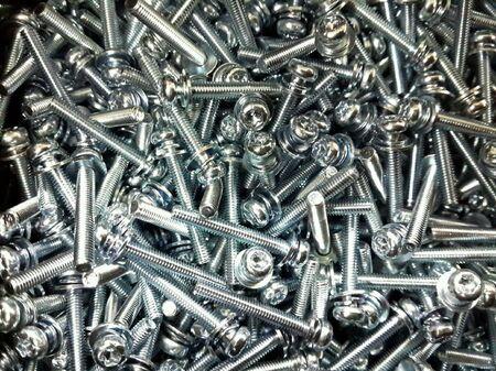 silver: Group of screws