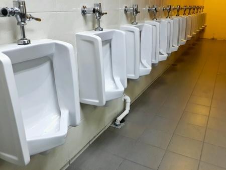 chamber pot: Chamber pot in toilet Stock Photo
