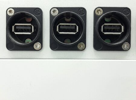 hub computer: Usb ports Stock Photo