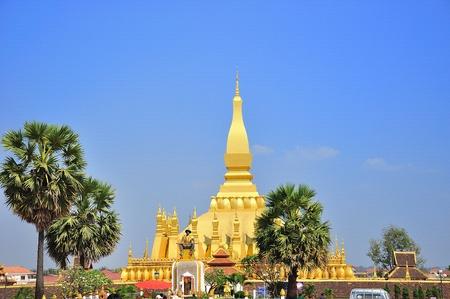 Temple of loas Stock Photo