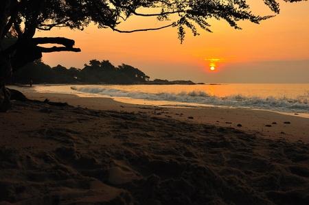 Sunset and beach Stock Photo