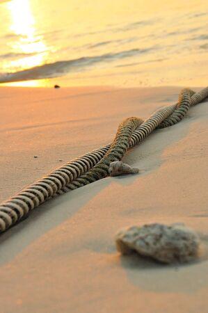 rope twist and beach