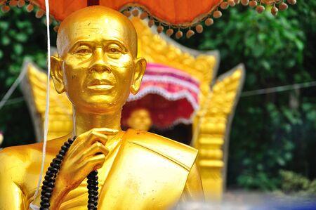 Buddha image at north of thailand Stock Photo