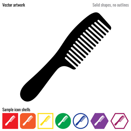 Comb vector icon glyph