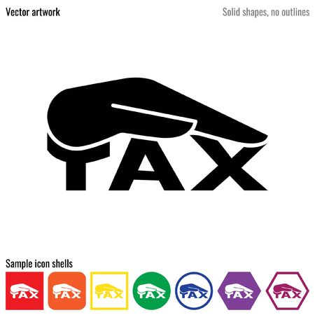 Tax reduction vector icon glyph 向量圖像