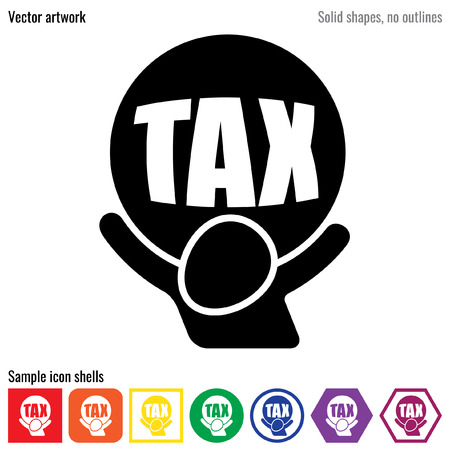 税負担ベクトル アイコン グリフ 写真素材 - 56379230