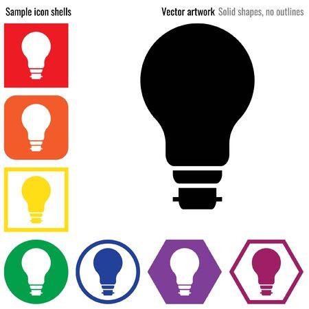 Light bulb vector icon glyph