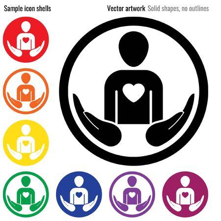 Health insurance icon glyph Ilustrace