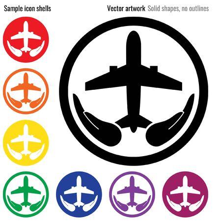 nurture: Travel insurance icon glyph