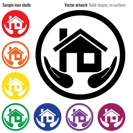 Home  insurance icon glyph Ilustrace