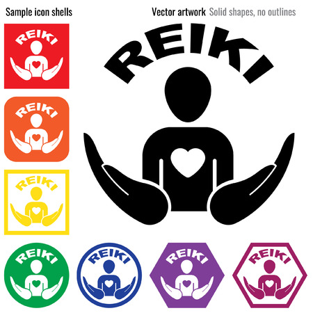 alternative therapy: Reiki icon glyph healing hands