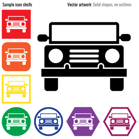 motorist: Car Truck front icon glyph