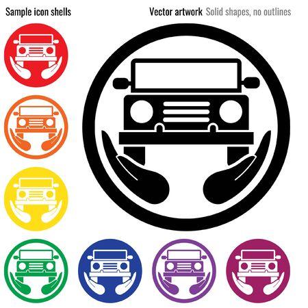 Car Insurance Icon Glyph