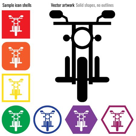 Motorbike front icon glyph