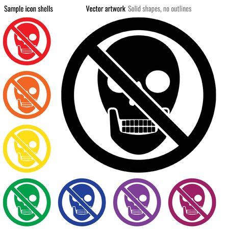 No malware vector icon glyph