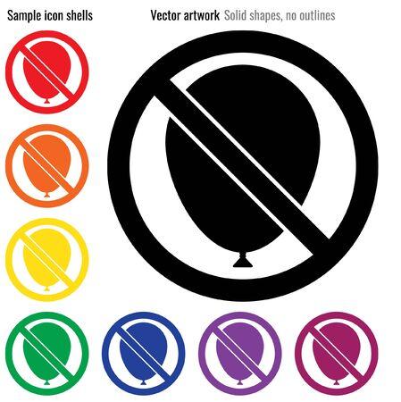 No bloatware vector icon glyph Illustration