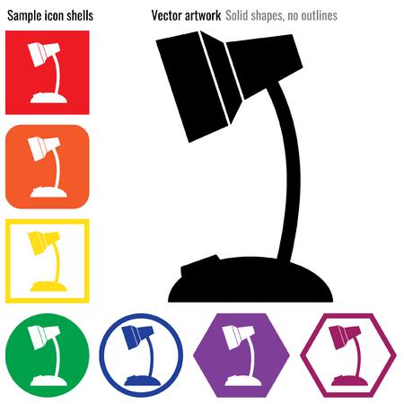 Desktop lamp vector icon glyph