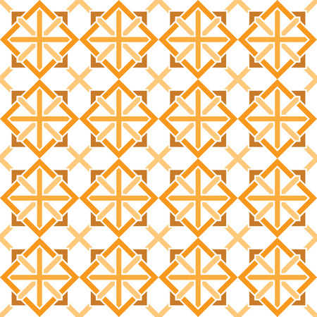Traditional Japanese lattice pattern - seamless editable repeating vector background wallpaper