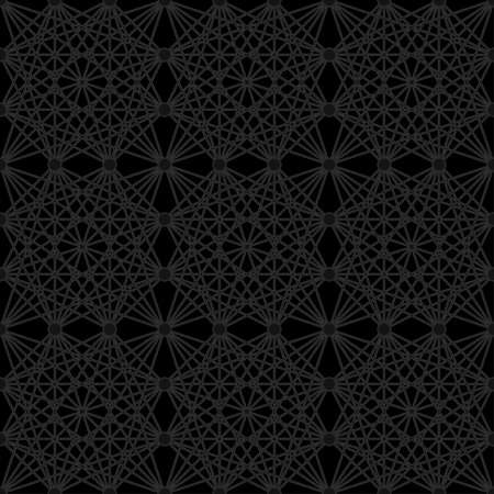 quadrant: Intricate repeating square matrix pattern of neon lines on black background - seamless editable repeating vector background wallpaper (manual - no effects) Illustration