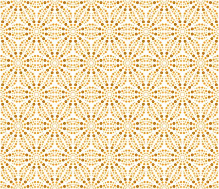 Repeating matrix pattern of circles like a starfish - seamless editable repeating vector background wallpaper Illustration