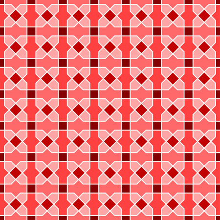 distinctive: Interlocking tessellation pattern in square layout, similar to traditional Islamic geometric patterns - seamless editable repeating vector background