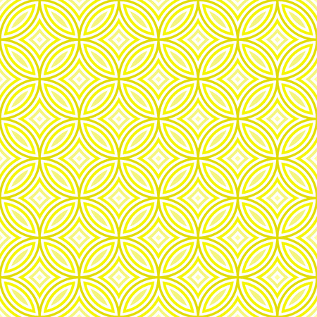 Traditional Japanese pattern of overlapping circles in square layout - seamless editable repeating vector background Illustration