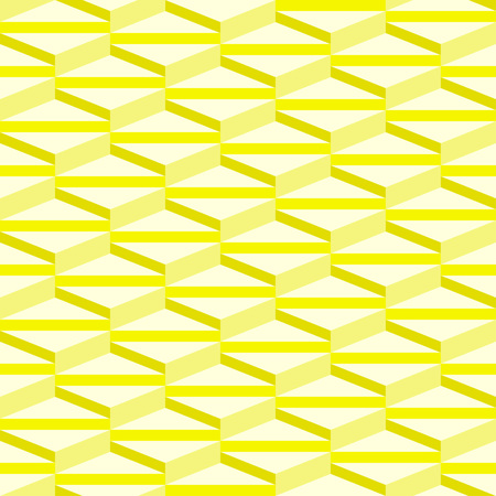 Isometric triangle pattern - 3D seamless editable geometric vector abstract background wallpaper Illustration