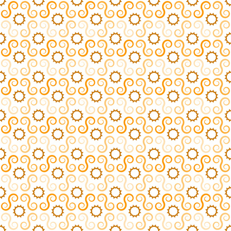 Pattern of swirls, can be repeated  tiled - seamless editable vector background Illustration