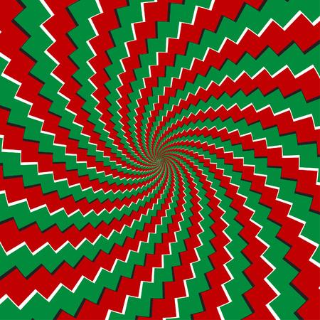 Spiral illusory motion pattern - vector Illustration