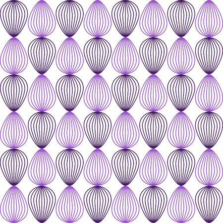 opal: Simple shell outline pattern - seamless editable vector background tile