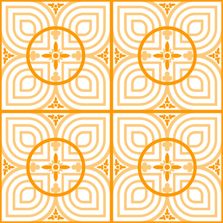 Celtic style petal tile - symmetrical, editable, vector, background, wallpaper, pattern