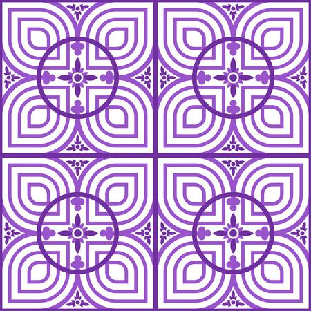 Celtic style petal tile - symmetrical, editable, vector, background, wallpaper, pattern Vector Illustration