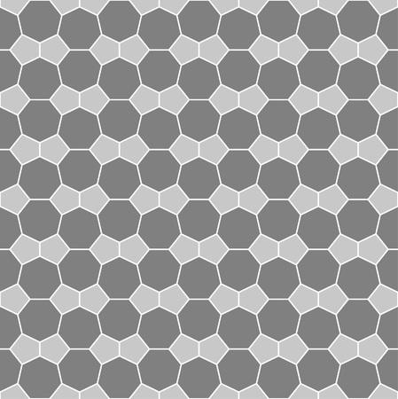 heptagon: Heptagon and pentagon tile pattern - seamless editable repeating vector background wallpaper