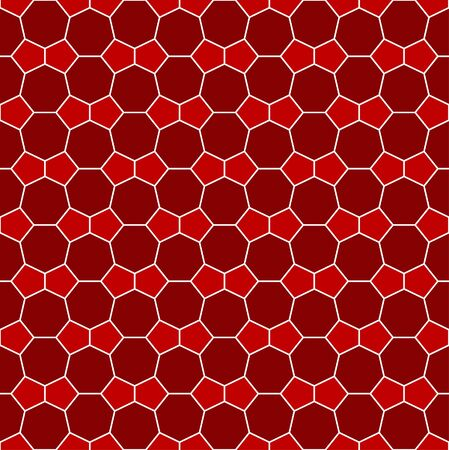 Heptagon and pentagon tile pattern - seamless editable repeating vector background wallpaper