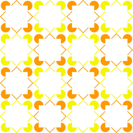 Square variation of the Kanizsa Optical Illusion (Illusory Contours) - Tile pattern, seamless editable repeating vector